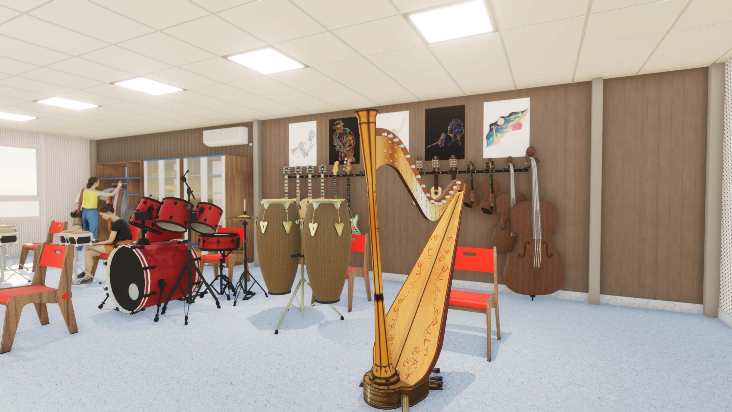 Instrumentos musicales en el aula