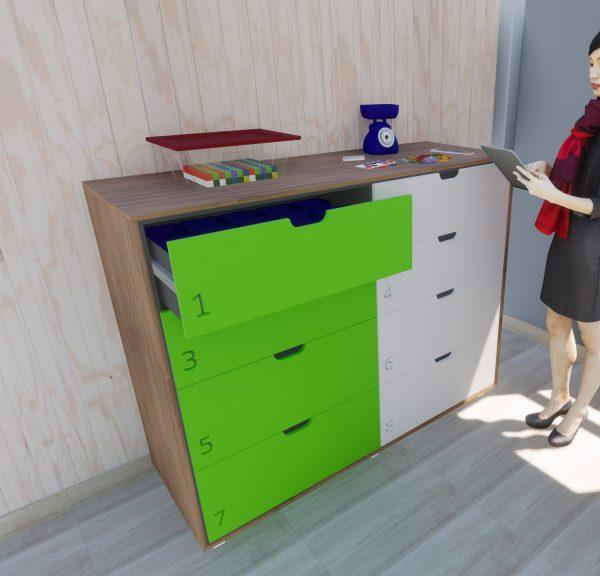 Mueble de materiales unikit aula